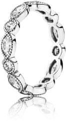 Pandora Oslnivý strieborný prsteň s kamienkami 190940CZ striebro 925/1000