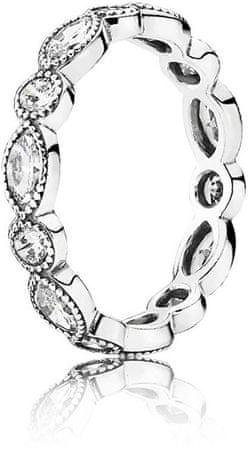 Pandora Olśniewający Srebrny pierścionek z kamieniami 190940 CZ (obwód 50 mm) srebro 925/1000