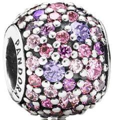 Pandora Korálku s fialovými a ružovými kryštály 791261ACZMX striebro 925/1000