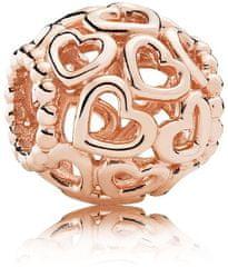 Pandora Bronz gyöngy szívvel 780964 ezüst 925/1000