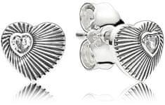 Pandora Ezüst szökőkút fülbevaló szív 297298 ezüst 925/1000