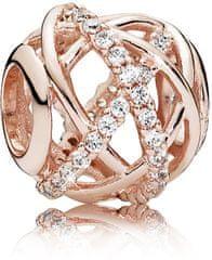 Pandora Bronzový korálik s trblietavými kryštálmi 781388CZ striebro 925/1000