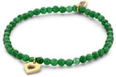CO88 Zapestnica iz zelenega žada s srcem 865-180-090160-0000