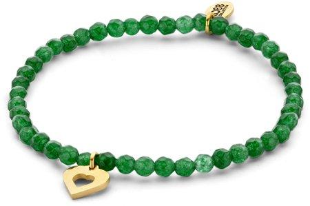 CO88 Zielony jadeit bransoletka z z sercem 865-180-090160-0000