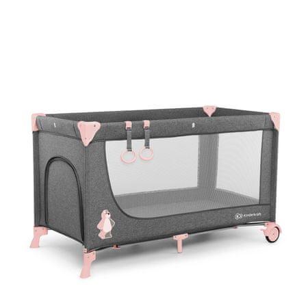 KinderKraft JOY pink utazóágy