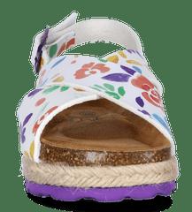 PAEZ dívčí sandály Bio cross flowery