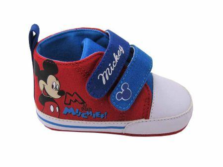 Disney by Arnetta chlapčenské topánočky Mickey Mouse 16 červená