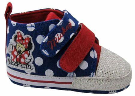 Disney by Arnetta kapcie dziewczęce Minnie 18 niebieskie