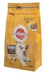 Pedigree suha hrana za majhne pse, perutnina/zelenjava, 400 g
