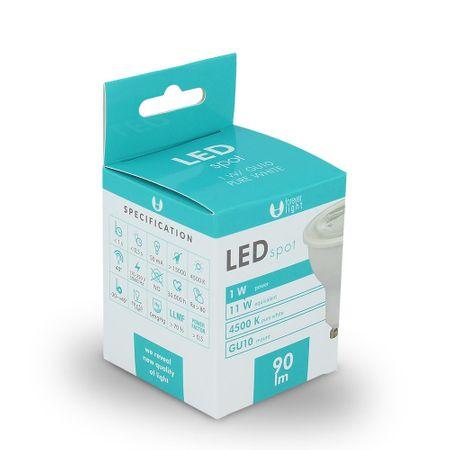 Forever LED žiarovka GU10 1W biela