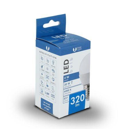 Forever LED žiarovka G45 E27 4W studená biela (6000K)