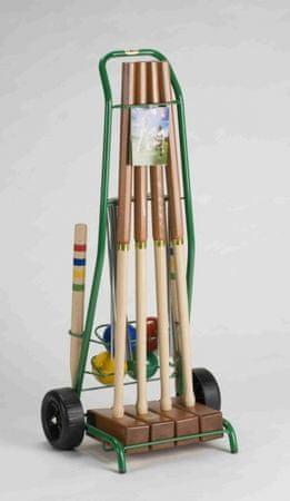 Lucio Londero Kroket Professional 10204/E - pro 4 hráče - kovový vozík