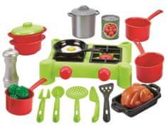 ECOIFFIER kuchenka dla dzieci z dużym zestawem naczyń