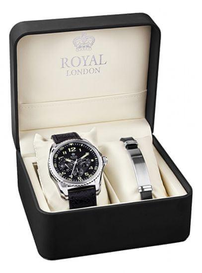 Royal London sada hodinek s náramkem 41328-01-SET - zánovné