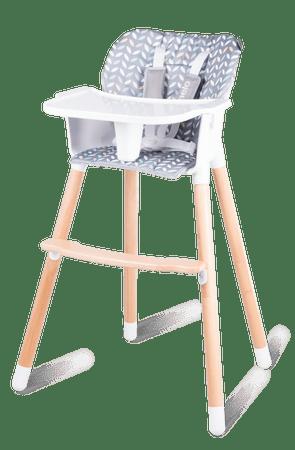 Lionelo krzesło do karmienia Koen 2w1 Grey/Yellow