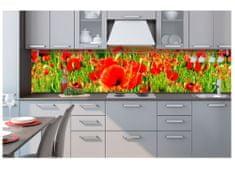 Dimex Fototapeta do kuchyne KI-260-028 Červené maky 60 x 260 cm