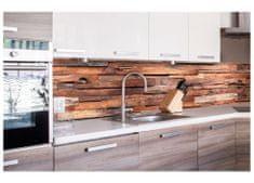 Dimex Fototapeta do kuchyne KI-260-063 Drevený obklad 60 x 260 cm