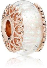 Pandora Bronast obesek iz mavričnega stekla 787576 srebro 925/1000