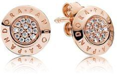 Pandora Pályázati bronz fülbevaló kristályokkal 280559GB ezüst 925/1000