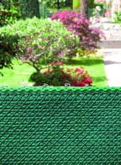 TENAX SPA Zöld drótháló BERMUDA árnyékoló hálóval 100% 1m magas