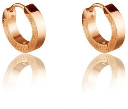 VictoriaWallsNY Aranyozott fülbevaló körök VE1048G