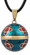 Těhotenská rolnička Aranyozott nyaklánc, jingle bell India DZ20
