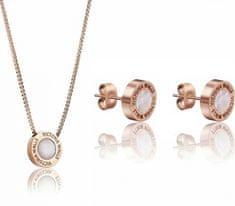 VictoriaWallsNY Súprava náušníc a náhrdelníka s perleťou VS1059R