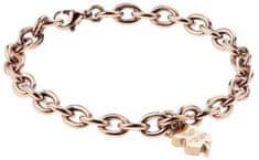 VictoriaWallsNY Masszív rózsaszín aranyozott karkötő a boldogságért VB1043R