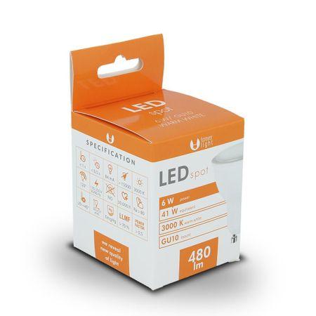 Forever LED žiarovka GU10 6W teplá biela