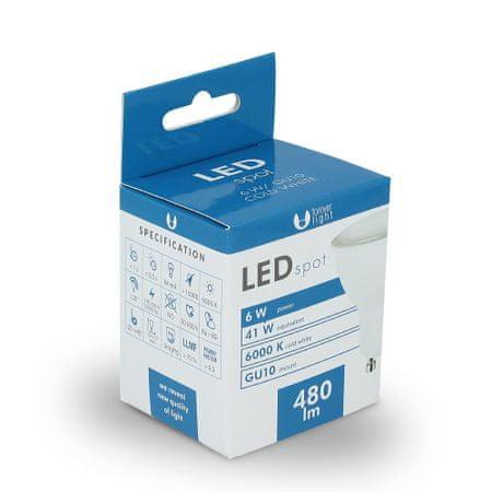 Forever LED žiarovka GU10 6W studená biela