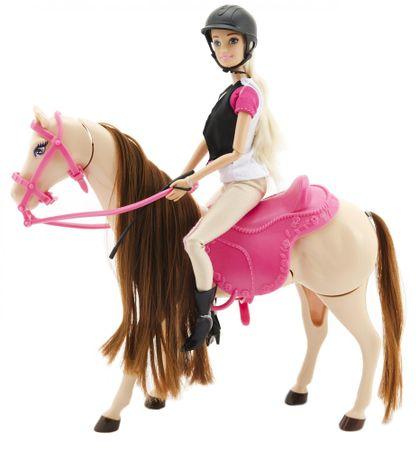 Teddies lalka dżokejka z koniem