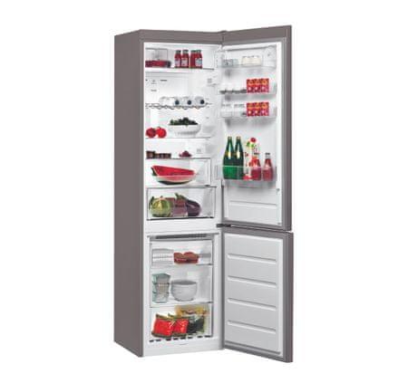 Whirlpool BSF 9152 OX Kombinált hűtőszekrény, 369 L, A++