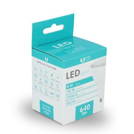 Forever LED žiarovka GU10 8W biela
