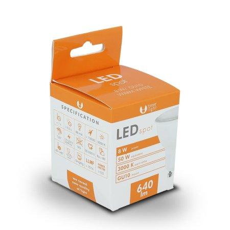 Forever LED žiarovka GU10 8W teplá biela