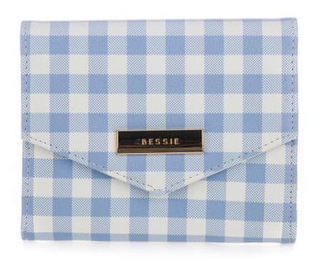 Bessie London portfel damski niebieski