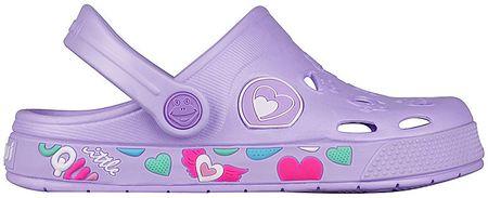 Coqui Dětské pantofle Froggy Lt. Lila Hearts 8802-402-0202 (Velikost 28-29)