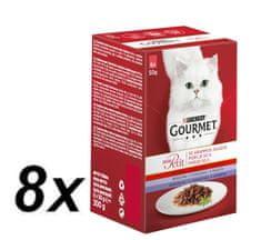 Gourmet Mon Petit Multipack 8x (6x50g) Hovädzie, teľacie, jahňacie v šťave