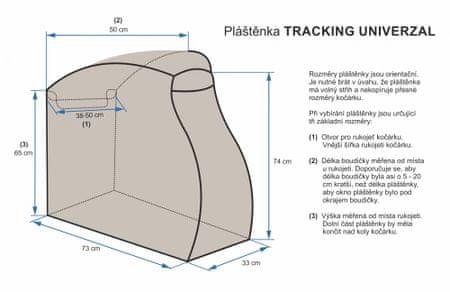 Emitex osłona przeciwdeszczowa Tracking Universal