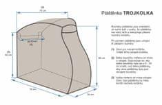 Emitex osłona przeciwdeszczowa na wózek trójkołowy