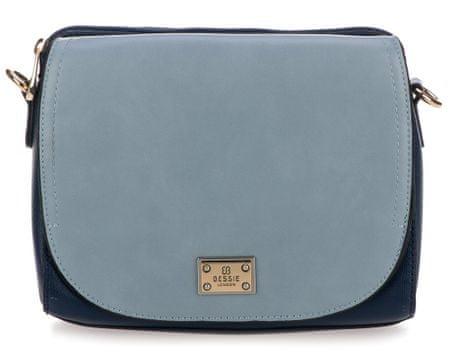 Bessie London crossbody kabelka modrá