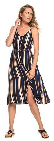 ROXY Női ruhaSunset Beauty Dress Blue Macy Stripe ERJWD03313-BTK4 (méret L)