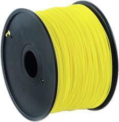 Gembird tisková struna (filament), PLA, 1,75mm, 1kg, žlutá (3DP-PLA1.75-01-Y)