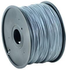 Gembird tisková struna (filament), PLA, 1,75mm, 1kg, stříbrná (3DP-PLA1.75-01-S)