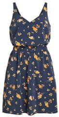 VILA Dámske šaty Laia S/L V-neck Dress-Fav Lux Navy Blazer