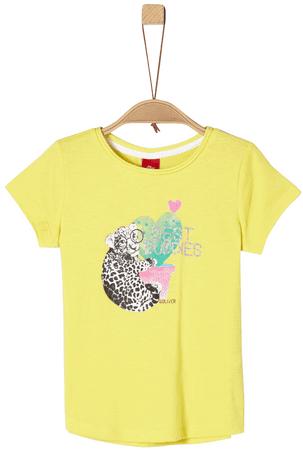 s.Oliver dievčenské tričko 116 - 122 žltá