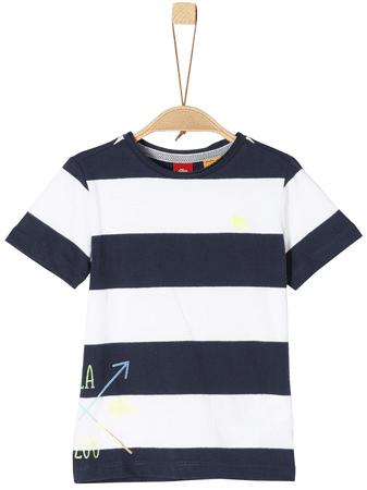 s.Oliver fiú póló 104 - 110 fehér/kék