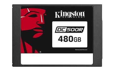 """Kingston SSD disk 480GB DC500R, 2,5"""", SATA3.0, 555/500 MB/s, za podatkovne centre"""