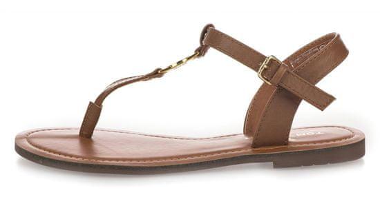 Tom Tailor dámske sandále 8090303 39 hnedá