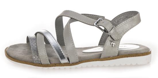 Tom Tailor dámske sandále 37 strieborná