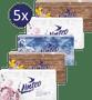 1 - LINTEO Papirnati robčki v škatli, 5 x 150 kosov